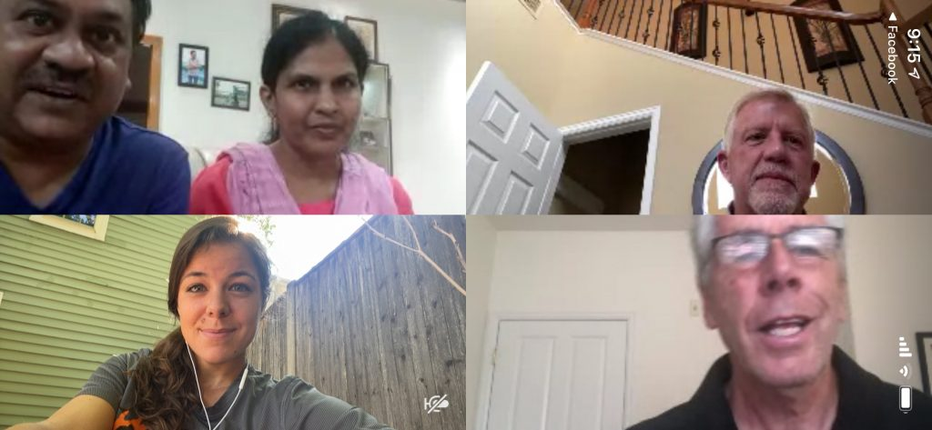 Zoom meeting with a global team